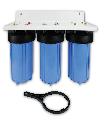 "10"" Jumbo High Flow Triple Water Filter Housing"