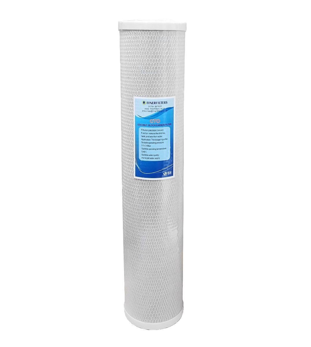 """Jumbo Carbon Block Water Filter ¦ 20"""" x 4.5"""" -  5 Micron ¦ For Drinking Water Systems"""