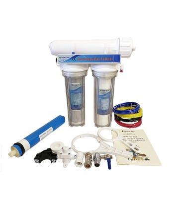 3 Stage Aquarium  Reverse Osmosis 50 GPD Unit For Marine, Tropical and Discus Fish