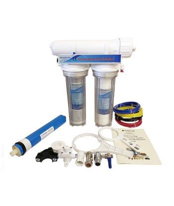 3 Stage Aquarium  Reverse Osmosis 100 GPD Unit For Marine, Tropical and Discus Fish