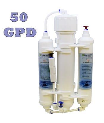 3 Stage Compact Aquarium Reverse Osmosis 50 GPD Unit for Tropical, Marine & Discus Fish
