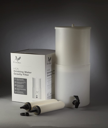 "British Berkefeld HCA2 Super Sterasyl Gravity Filter System ¦ Model No. W9361230 ¦ Lightweight BPA Free Polyethylene System Complete With  2 x 7"" Super Sterasyl Water Filters"