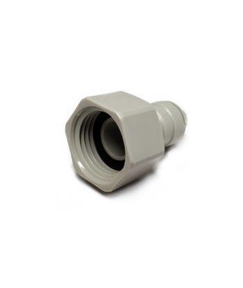 "Female BSP Tap to Push Fit Adapter ¦ 1/2"" BSP x 1/4"" Push Fit ¦ DMFit AFAB0407C"