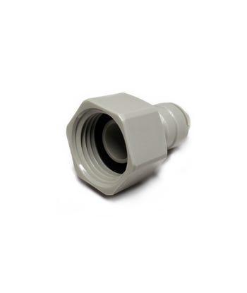 "Female BSP to Push Fit Tap Adapter ¦ 1/2"" BSP Flat End x 3/8"" Push Fit ¦ DMFit AFAB0607C"