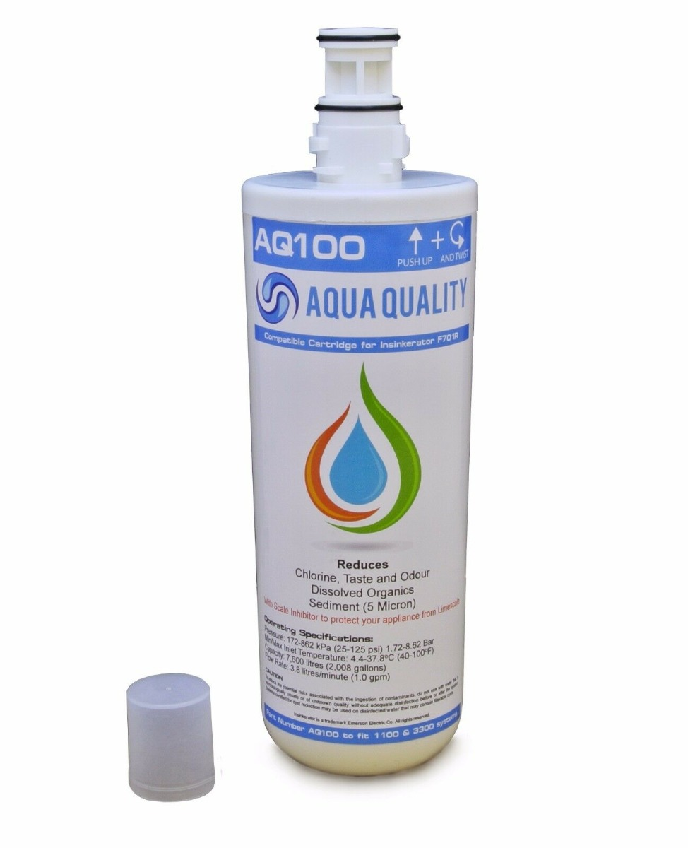 AQ-100 Compatible with InSinkErator F701R Hot Water Tap Filter for HC1100 & HC3300 Systems