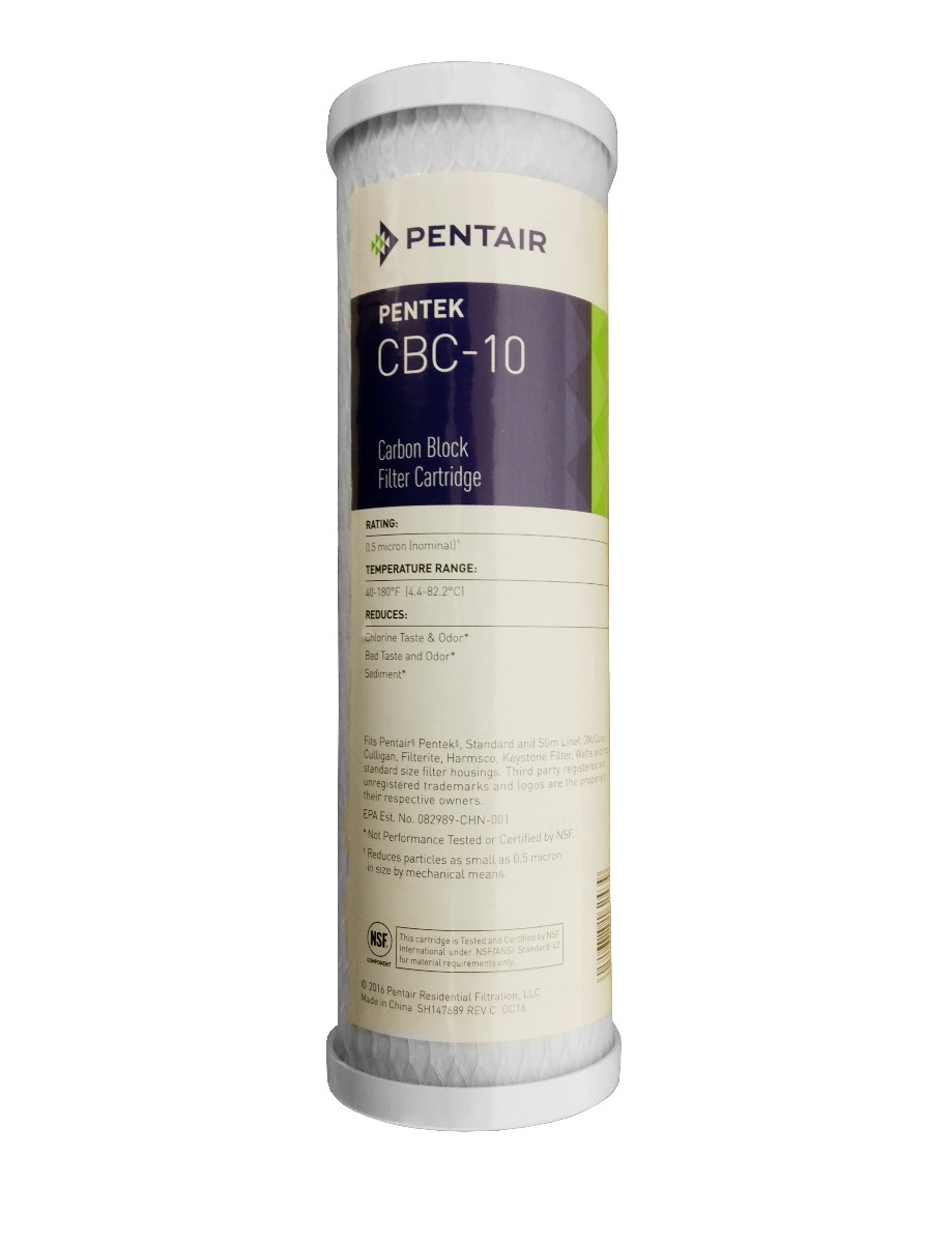 "Pentek CBC 10"" 0.5 Micron Carbon Block Water Filter"