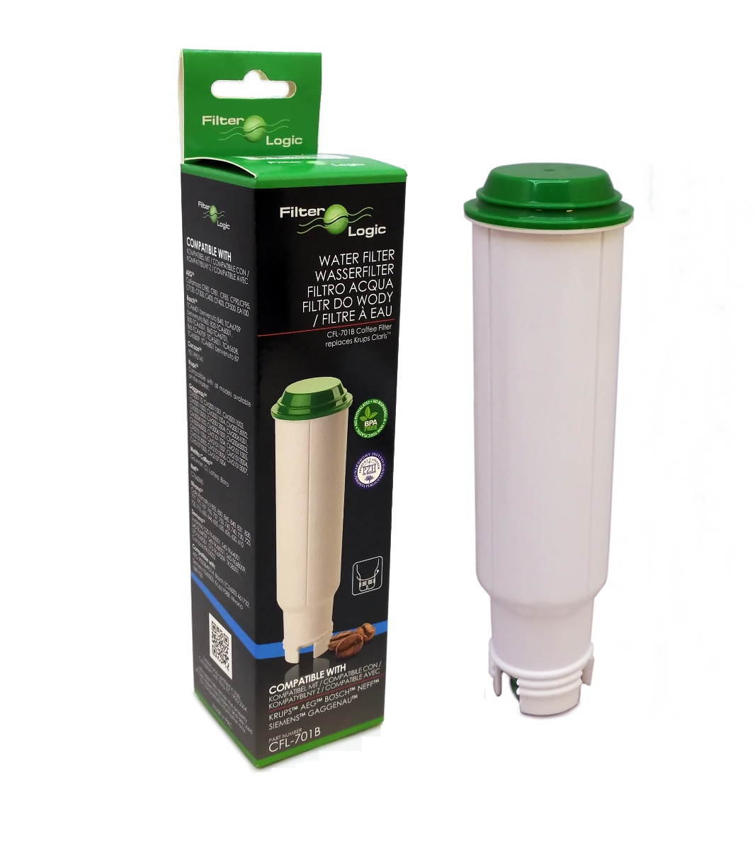 CFL-701B Compatible with Claris Krups F088 Coffee Machine Water Filter by FilterLogic