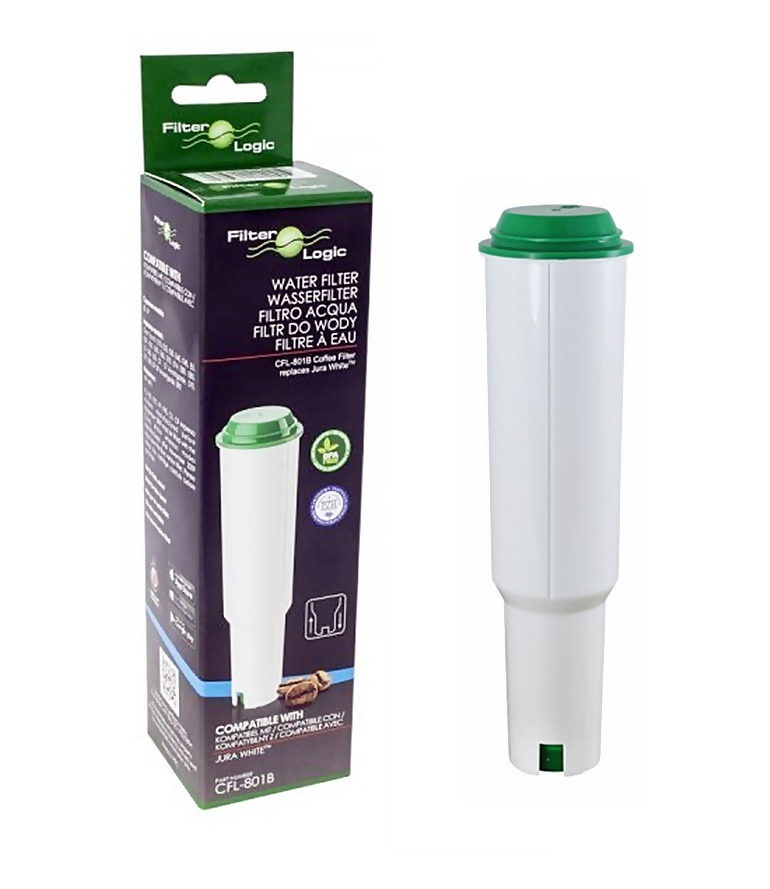 FilterLogic CFL-801B Water Filter Cartridge Compatible with Jura Claris White Coffee Maker Machine