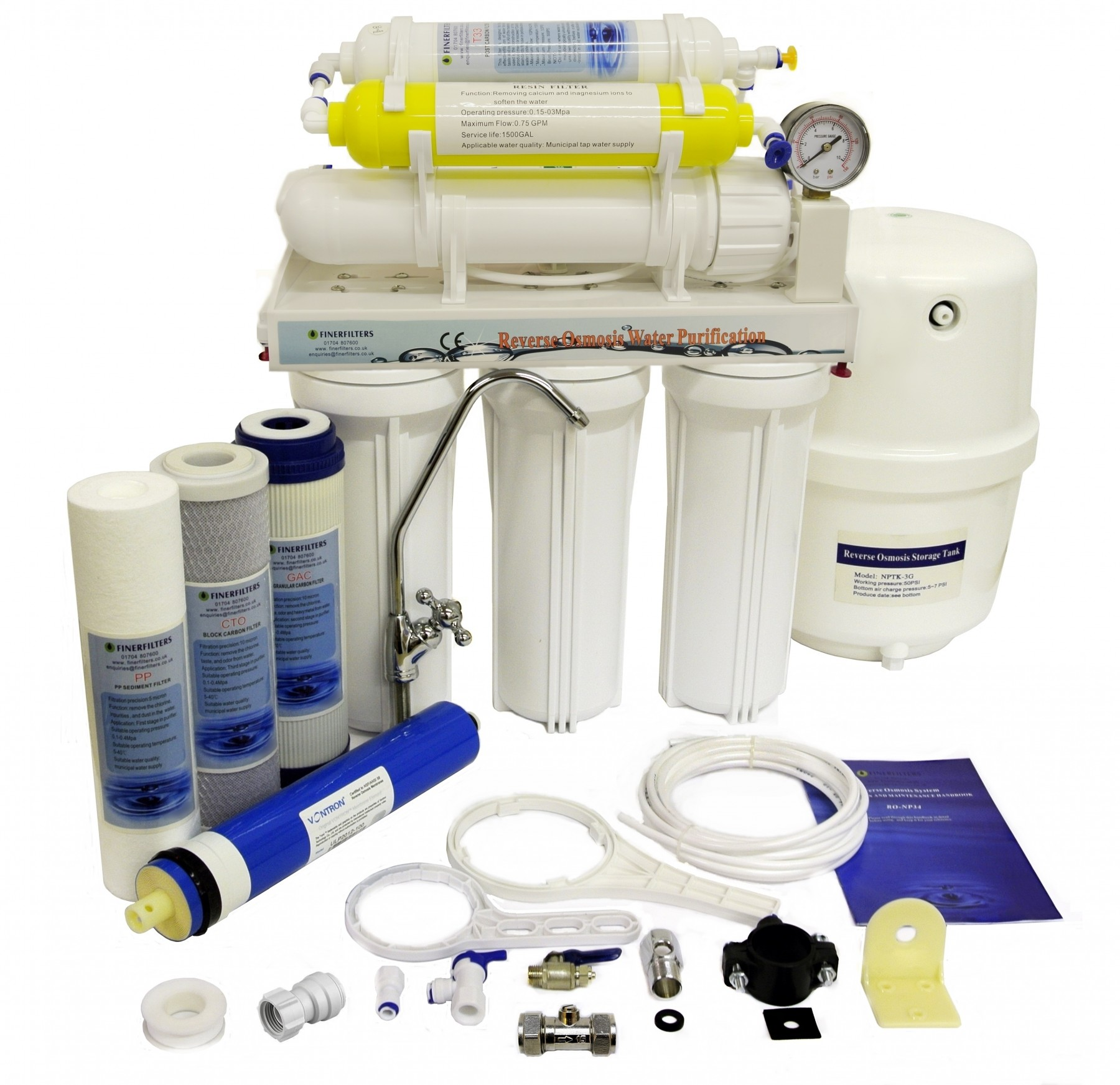 Finerfilters Domestic Undersink 6 Stage Reverse Osmosis
