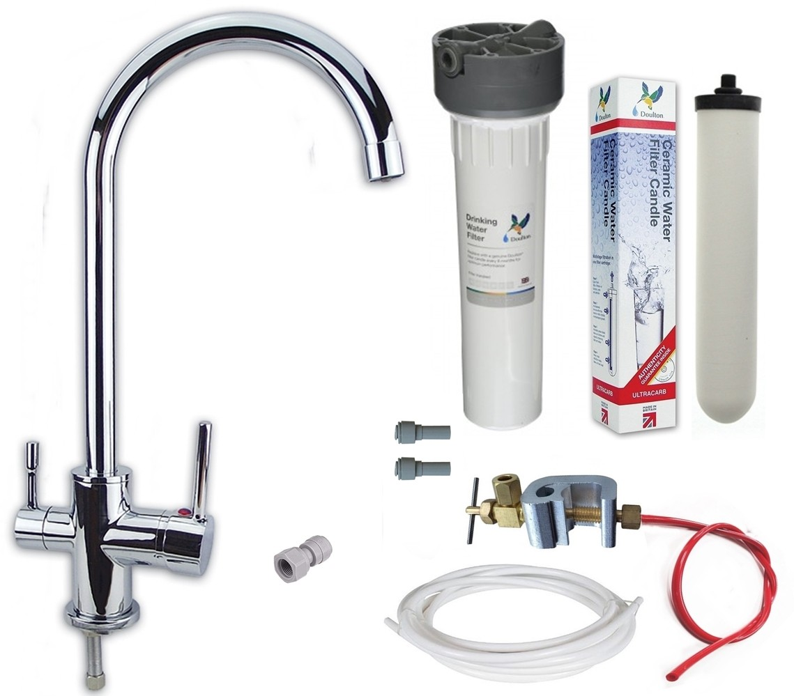 Finerfilters Premium Gold Under Sink Water Filter Kit