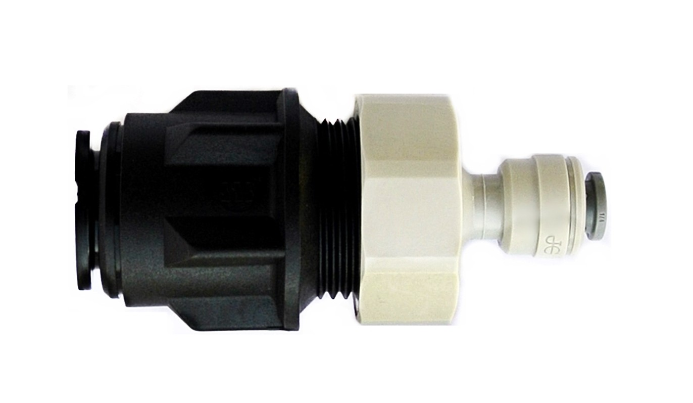 "15mm Pipe To 1/4"" Push Fit Fridge Water Filter Pipe Adapter"