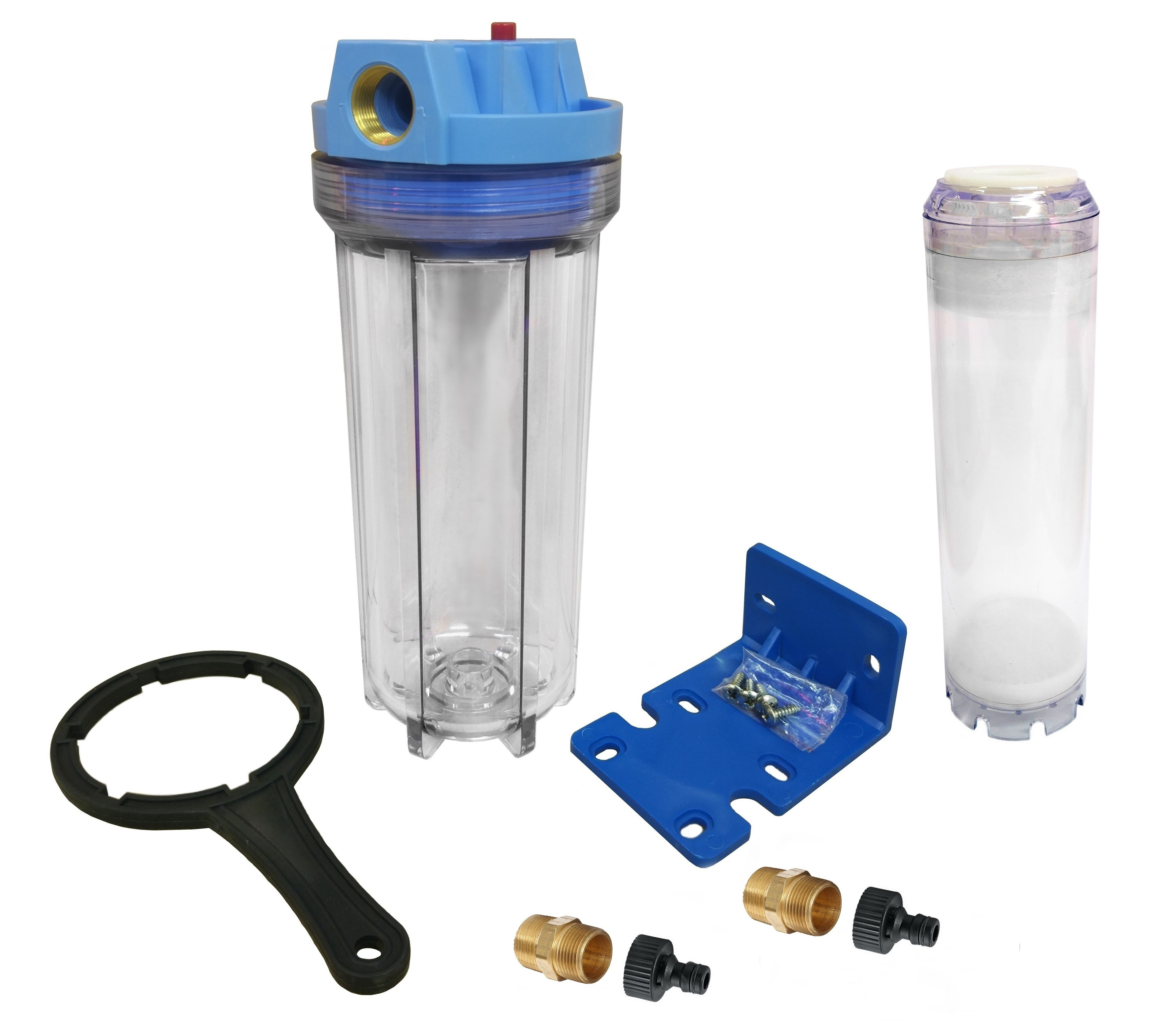 Finerfilters Fluidised Bed Filter, Phosphate Reactor - Clear Housing with Hosepipe Connections