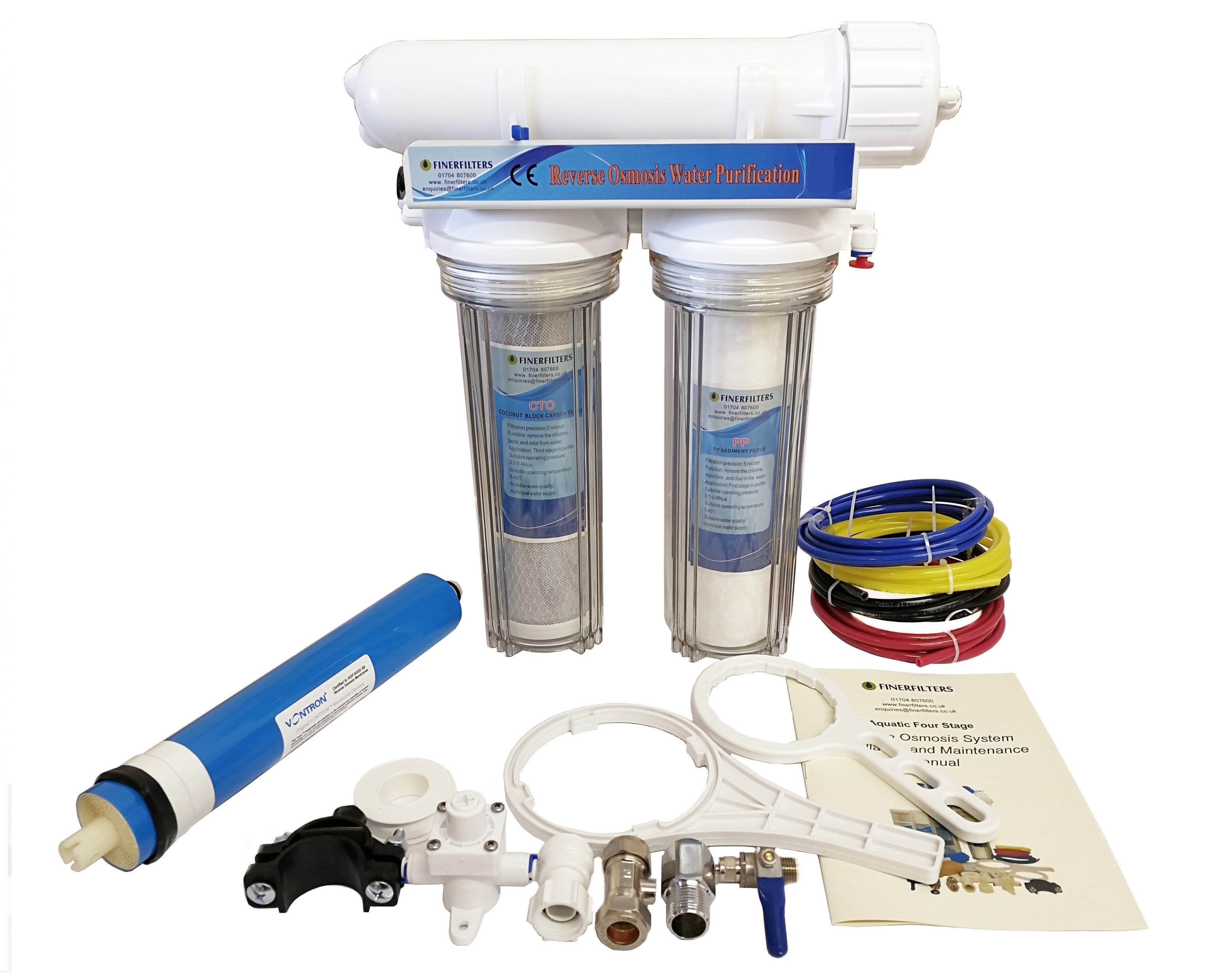Finerfilters 3 Stage Aquarium  Reverse Osmosis Unit For Marine, Tropical and Discus Fish (50 GPD)