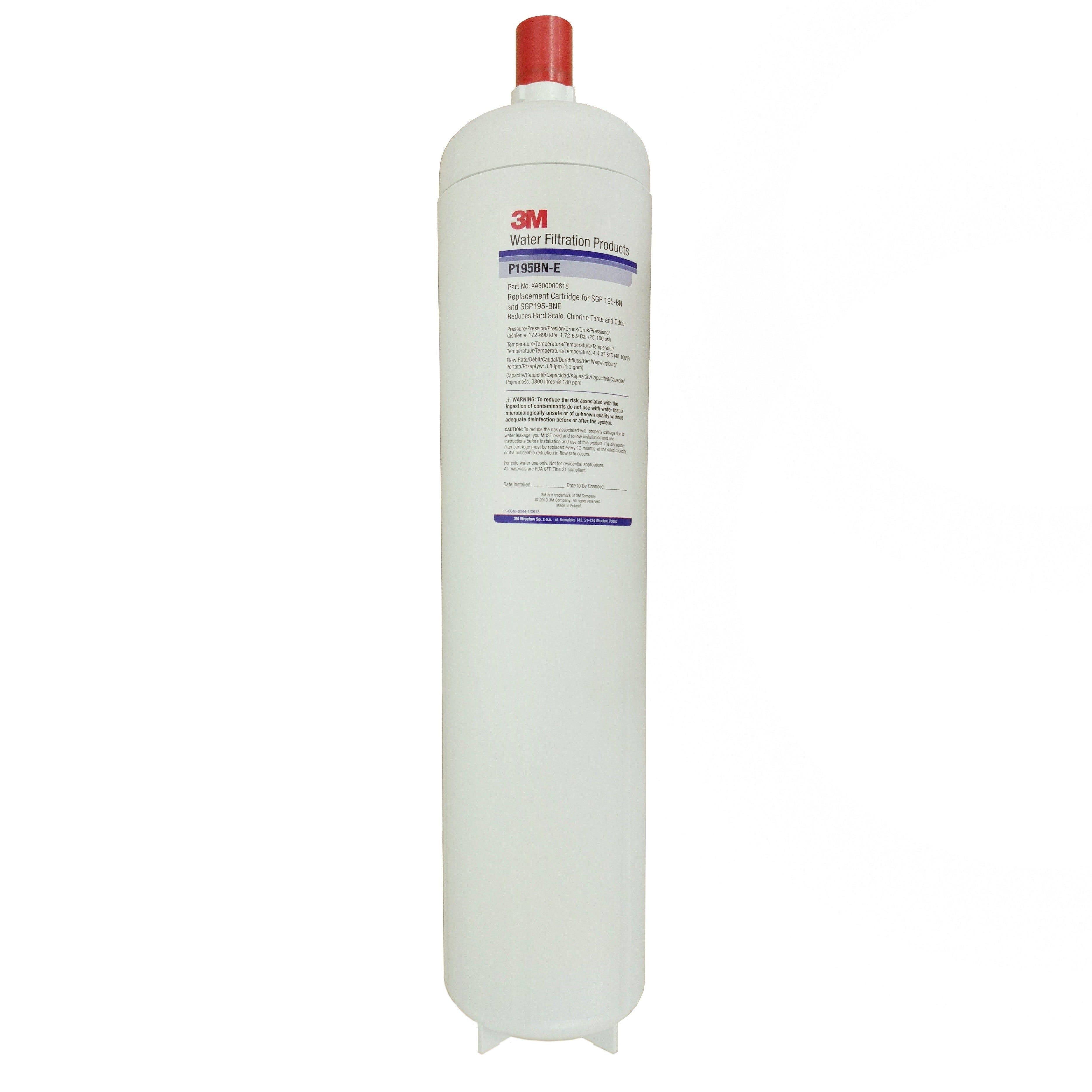 3M ScaleGard Pro SGP195BN-E Water Filter - Zip FL3600 & Instanta AQ50 Compatible