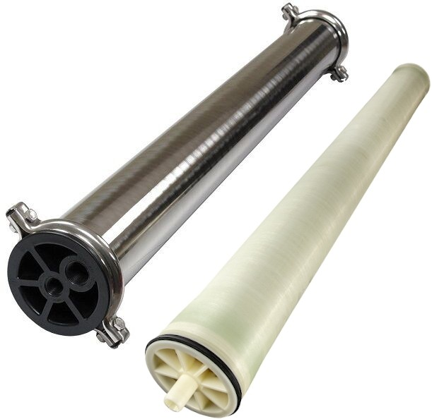 Spectrum WW-4040 Window Wash Reverse Osmosis Membrane Element & Spectrum WWH-4040 Stainless Steel Membrane Housing Set