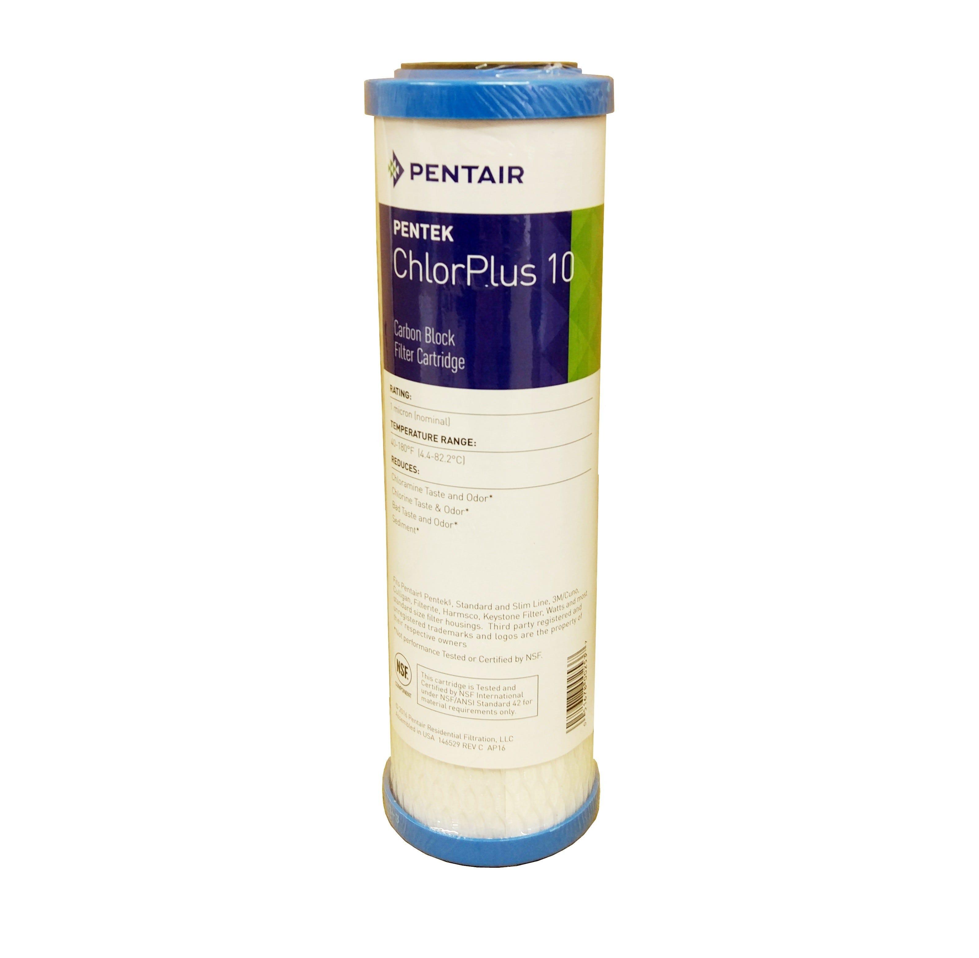 "Pentek CHLORPLUS 10"" 1 Micron Carbon Block Filter"