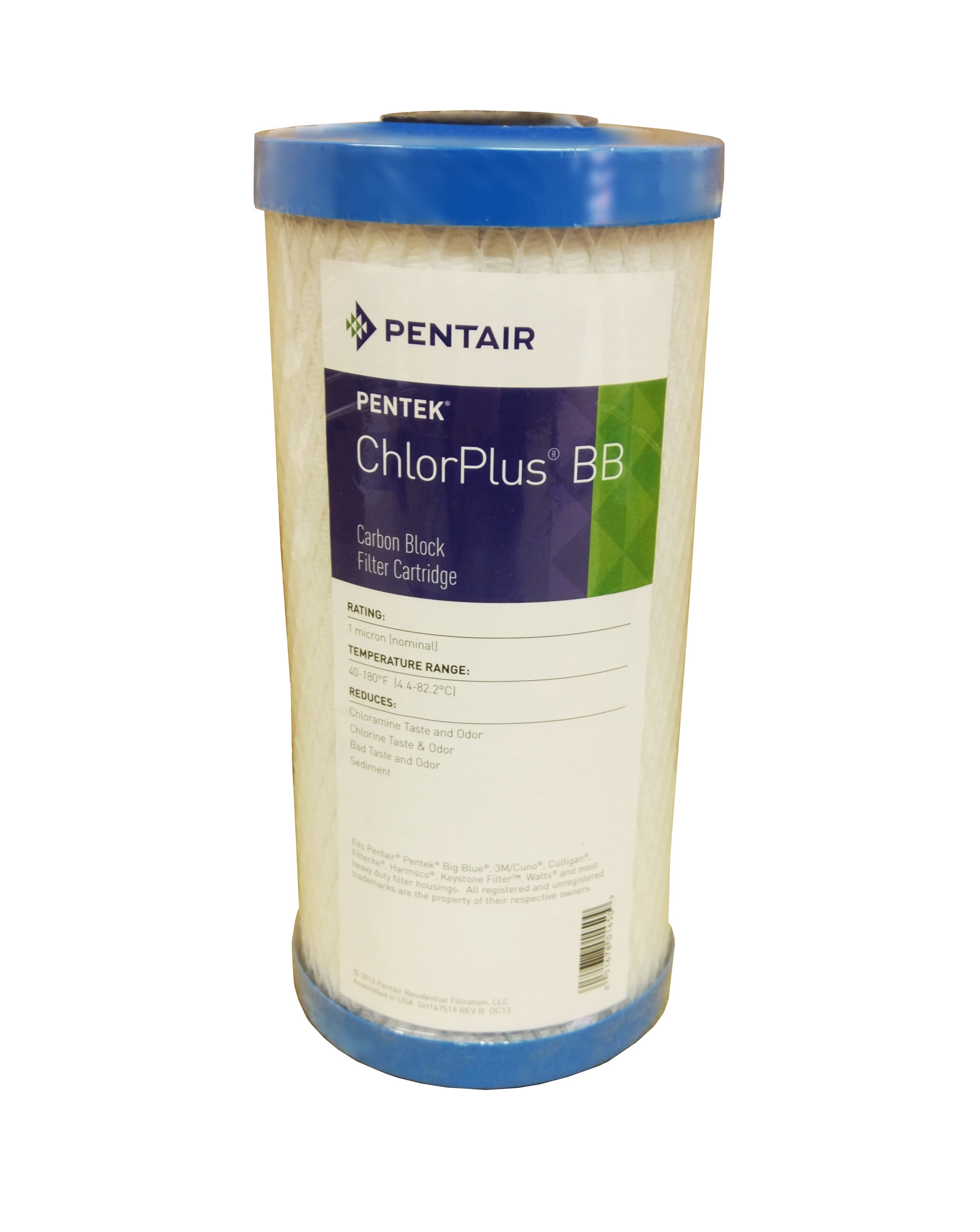 "Pentek CHLORPLUS 10"" Jumbo 1 Micron Carbon Block Filter"