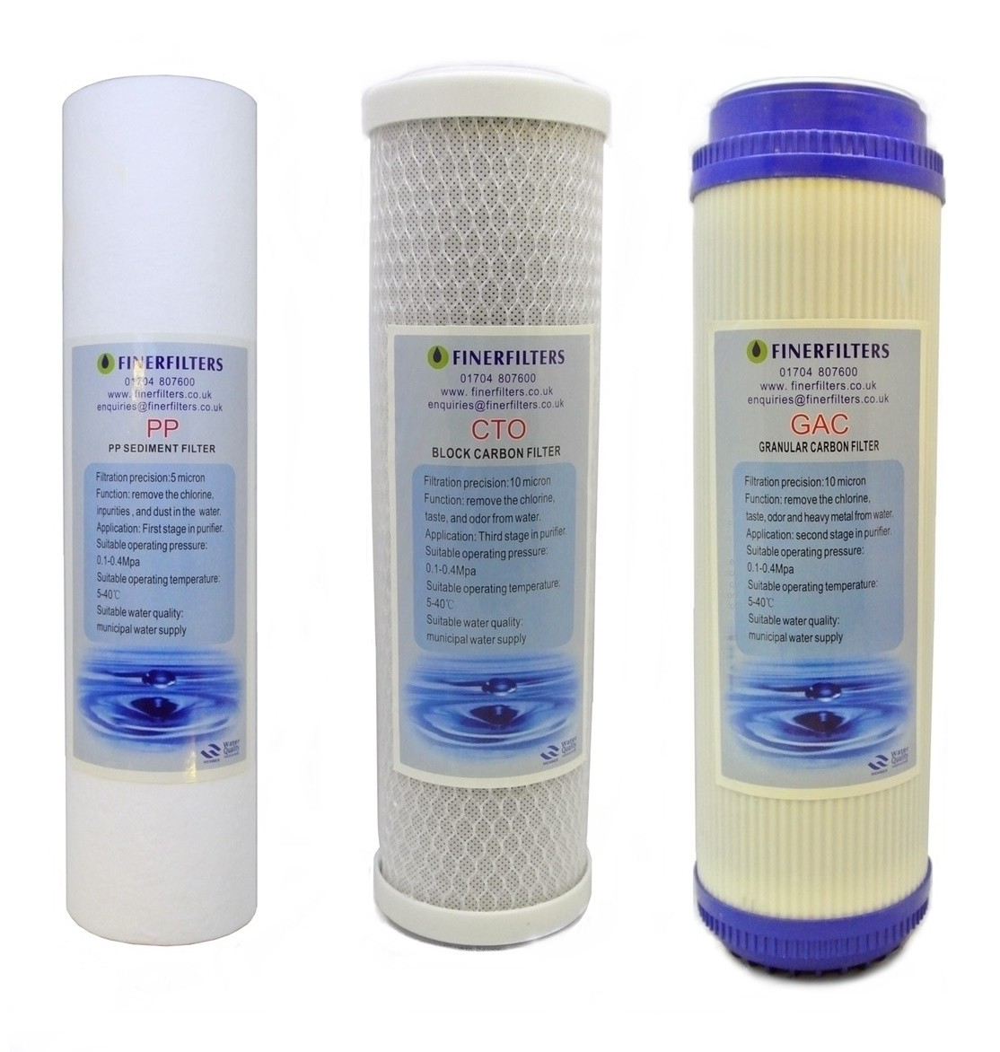 Replacement pre-filters for reverse osmosis system / 3 stage water purifier system