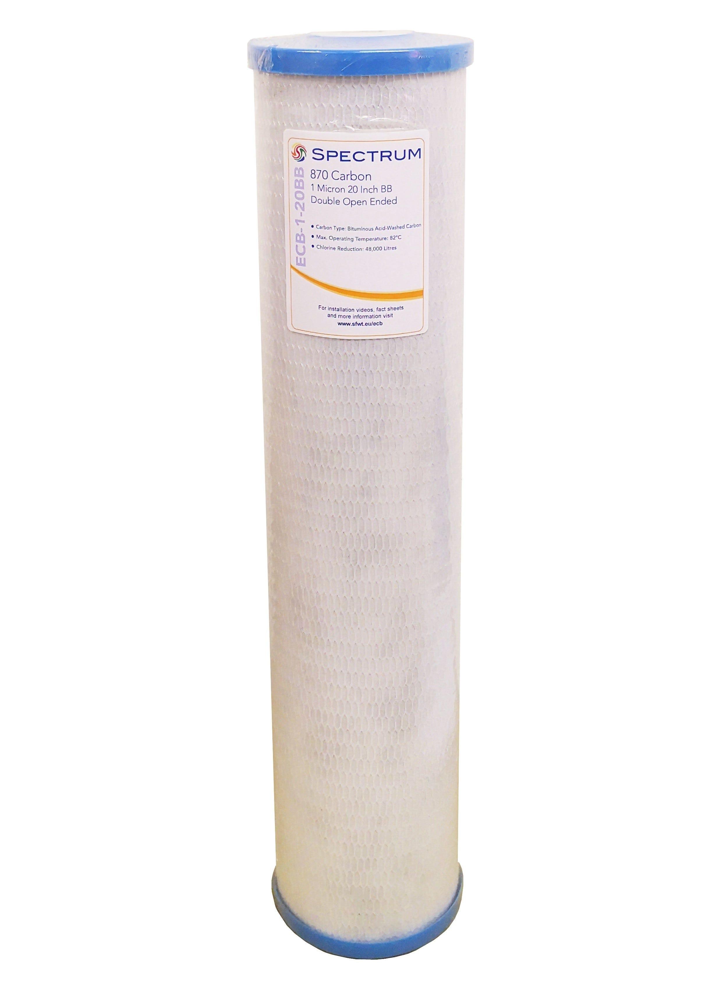 "Spectrum 870 20"" ECB Jumbo Carbon Block Filter"