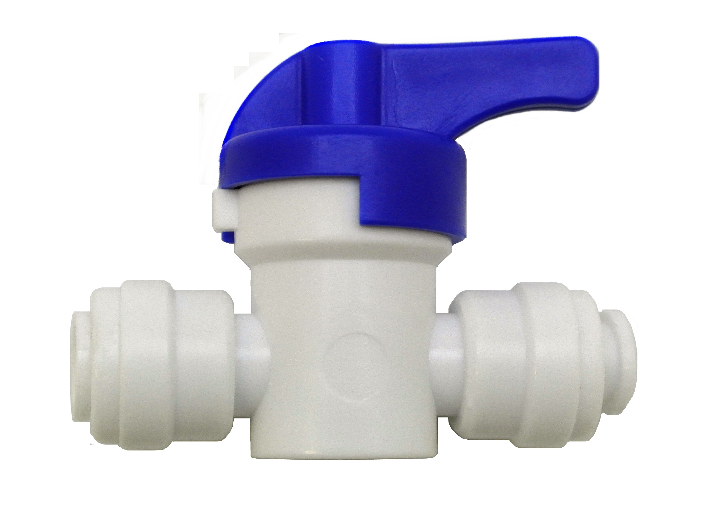 Finerfilters 1/4 to 1/4 Push Fit Shut Off Valve