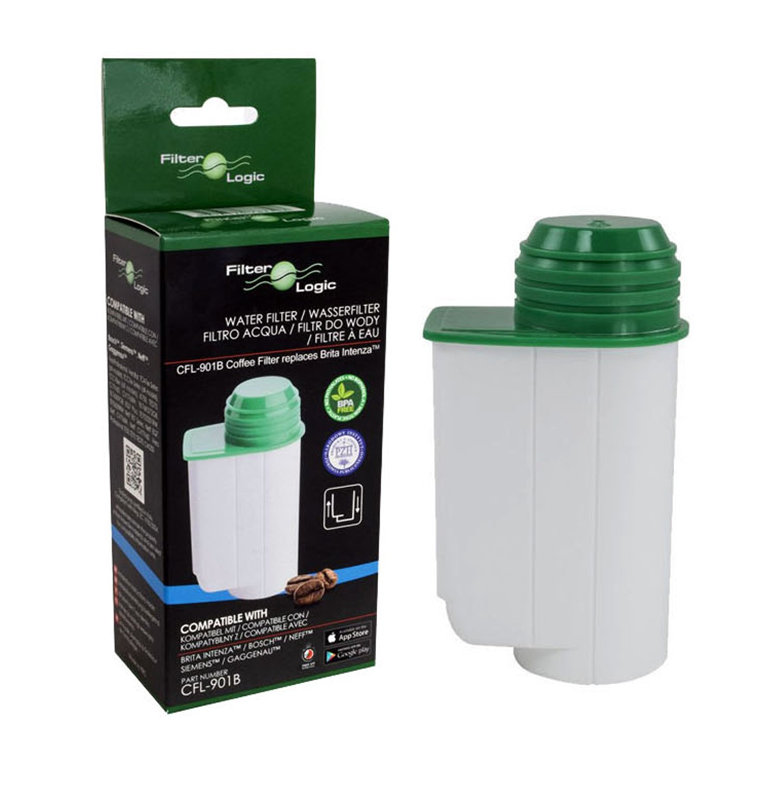 Coffee Maker Water Filter : Filterlogic FL-901 Compatible Water Filter To Fit Brita Intenza Coffee Makers