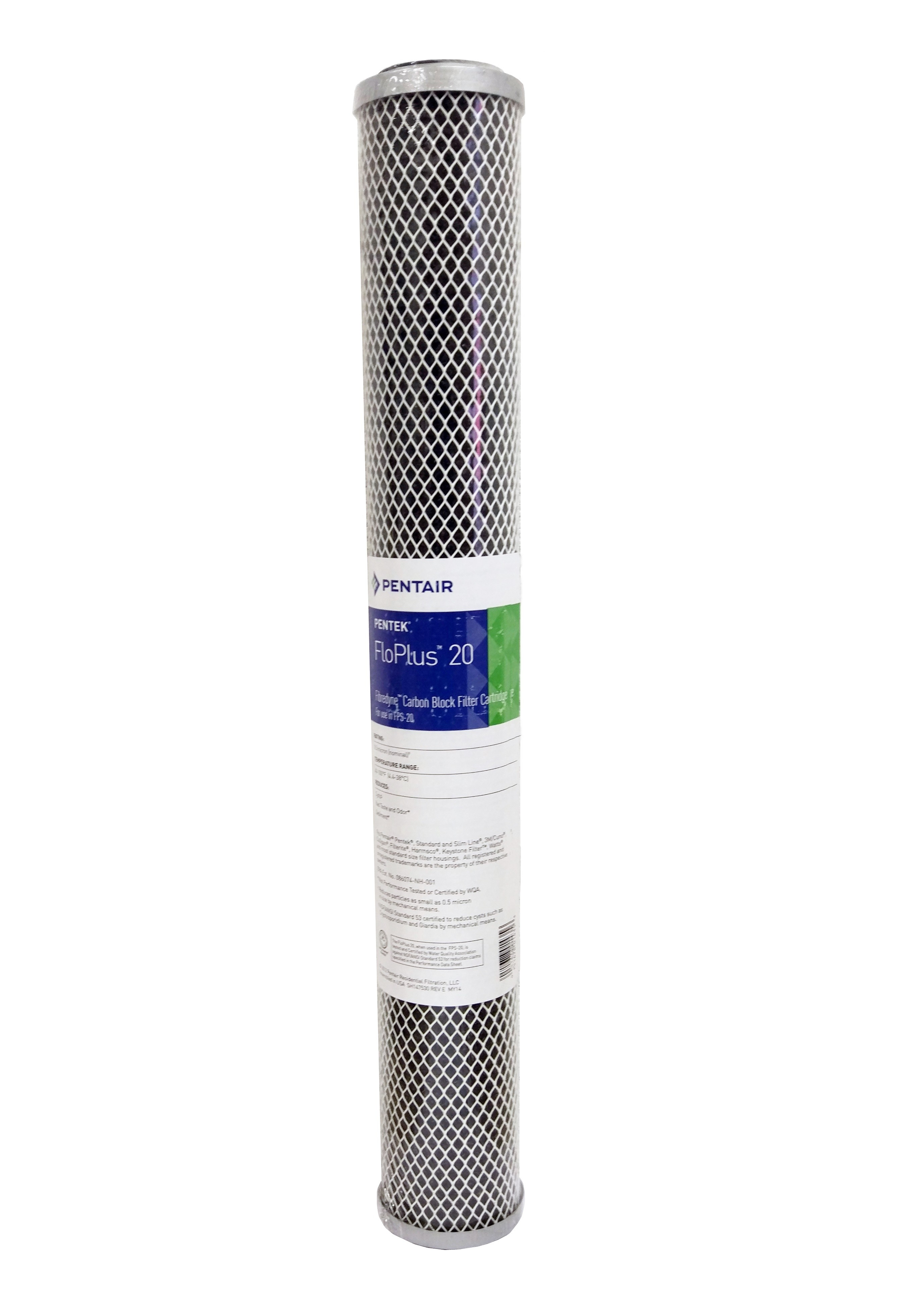 "Pentek FLOPLUS 20""  0.5 Micron Carbon Block Water Filter"