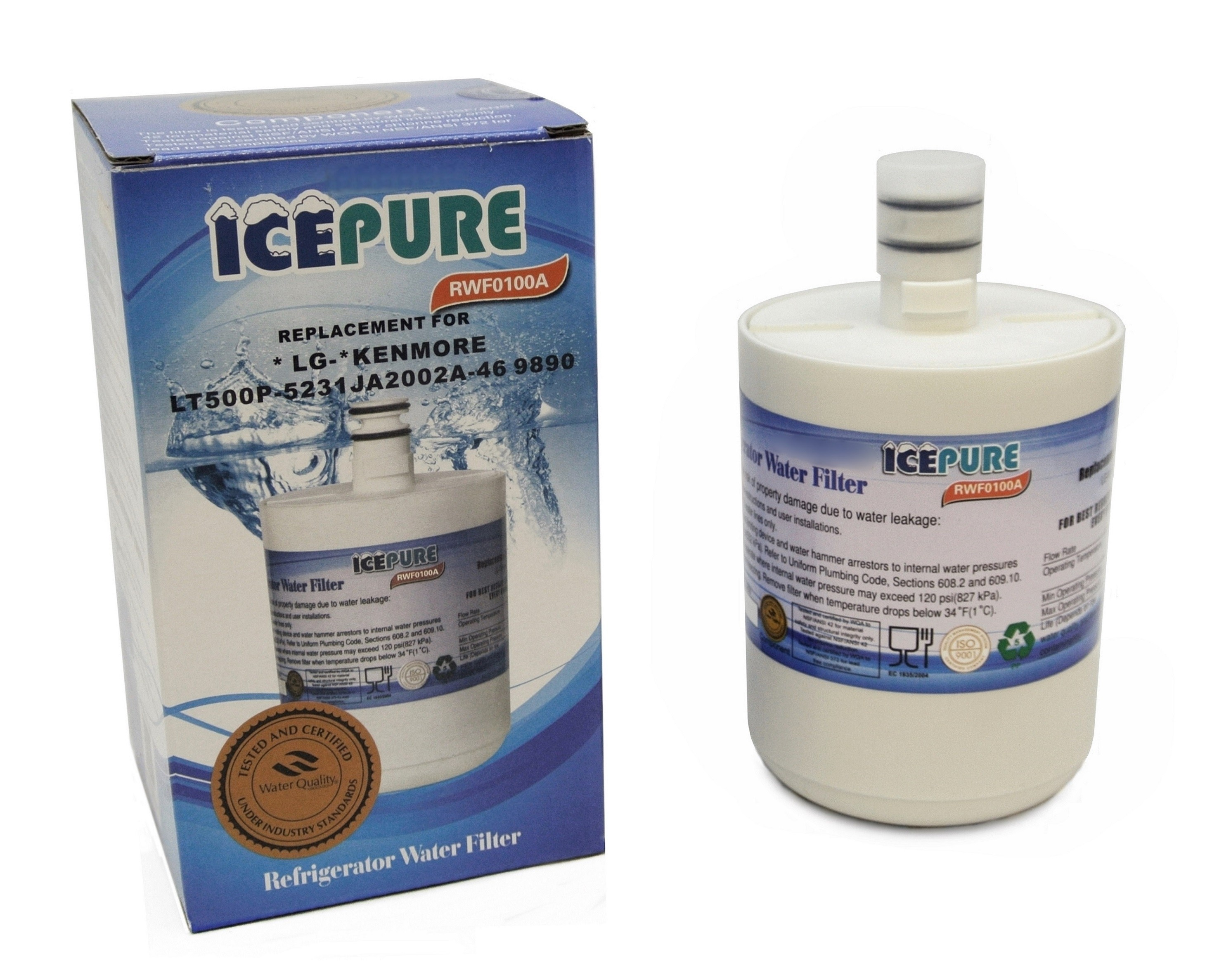 IcePure RWF0100A Compatible LG LT500P Fridge Water Filter