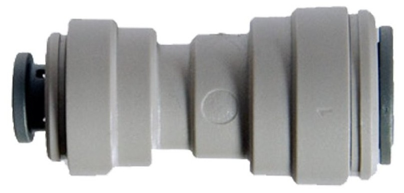 "John Guest straight Reducing connector 1/4"" Push Fit (quick connect) x 5/16"" PF"