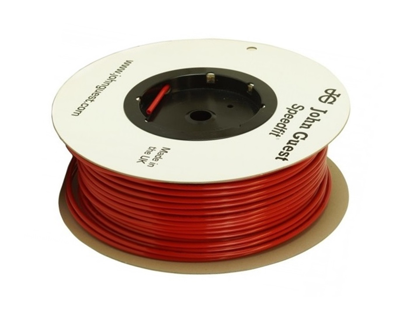 """John Guest 1/4"""" LLDPE Tubing 150M Coil - Red"""
