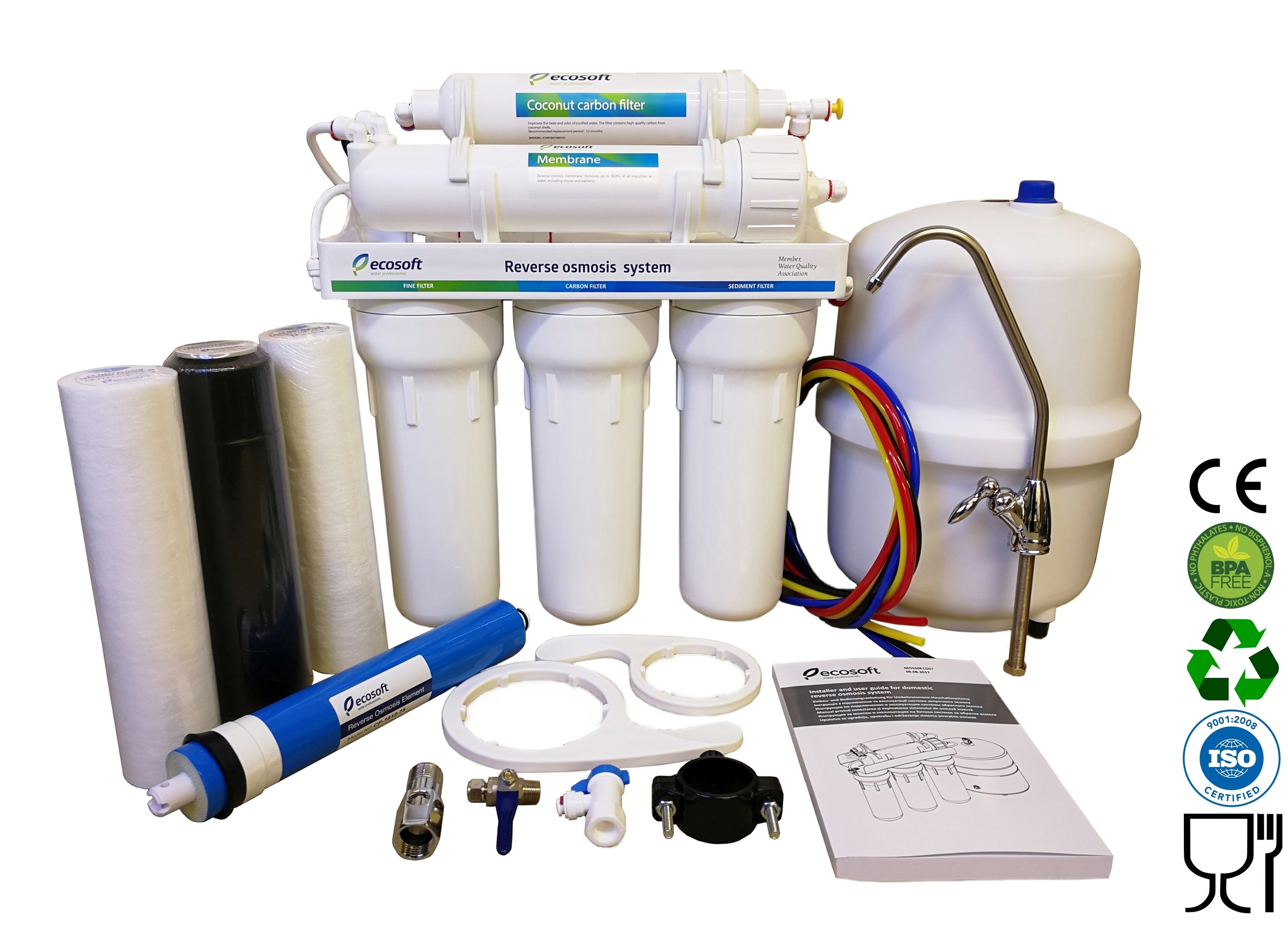 5 Stage EcoSoft Deluxe Domestic Reverse Osmosis Purification System