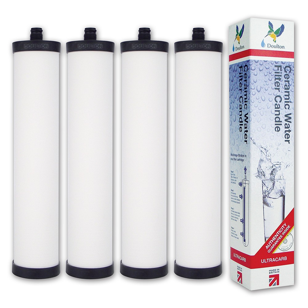 Franke Triflow FRX02/CP9455 Genuine Doulton Ultracarb M15 Mount Water Filter (4 pack) - Replaces the Discontinued Supercarb® M15 Water Filter