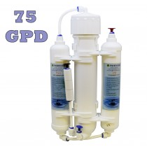 Finerfilters Aquarium 3 Stage Compact Reverse Osmosis Unit for Tropical Fish, Marine & Discus (75 GPD)