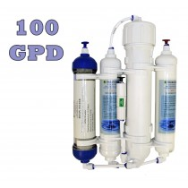 Finerfilters 4 Stage Compact Reverse Osmosis Unit with DI Chamber for Tropical/Marine/Discus (100 GPD)