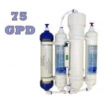 Finerfilters 4 Stage Compact Reverse Osmosis Unit with DI Chamber for Tropical/Marine/Discus (75 GPD)