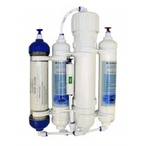 4 Stage Compact Aquarium Reverse Osmosis 75 GPD Unit with Inline DI Chamber for Tropical Fish, Marine & Discus by Finerfilters