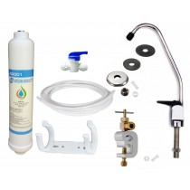 Undersink Drinking Water Tap Filter Kit System Including Tap and Accessories