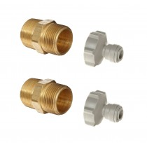 "¾"" Brass Hex Nipple to ¼"" Pushfit Fittings"