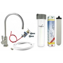 Cryptosporidium Removal Supercarb Under-sink Drinking Water System with Deluxe Brushed Nickel Tap