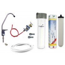 Cryptosporidium Removal Supercarb Under-sink Drinking Water System with Chrome Lever Tap