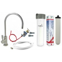 Cryptosporidium Removal Ultracarb Under-sink Drinking Water System with Deluxe Brushed Nickel Tap