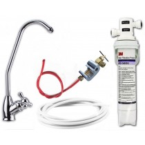 3M Drinking Water Filter Kit (Bacteria Rated Filter) Full DIY System with Bobble Foot Tap