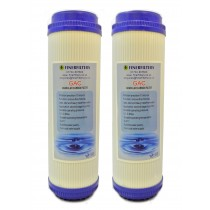 "Finerfilters 10"" GAC Activated Carbon Water Filter for Reverse Osmosis (2 Pack)"