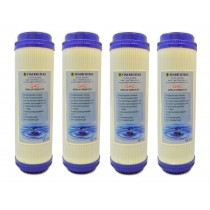 "Finerfilters 10"" GAC Activated Carbon Water Filter for Reverse Osmosis (4 Pack)"