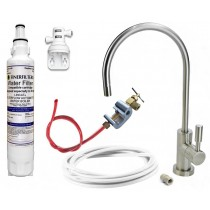 Undersink Drinking Water Deluxe Kit with Brushed Nickel Tap