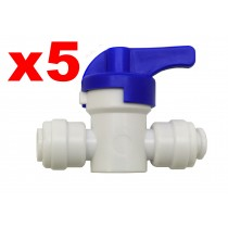 "Finerfilters 1/4"" PF Shut Off Valve (5 Pack)"