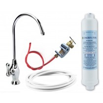 Undersink Drinking Water Filter Kit with Deluxe Long Reach Tap