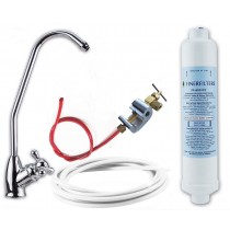 Undersink Drinking Water Filter Kit with Chrome Bobble Foot Tap