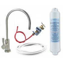 Undersink Drinking Water Filter Kit with Deluxe Brushed Nickel Tap