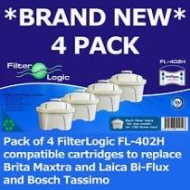 Filterlogic Maxtra 4 Pack - Brita Compatible