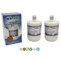 IcePure RWF0100A LG LT500P Compatible Fridge Water Filter (2 Pack)